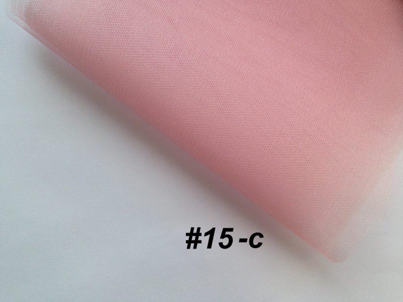Фатин средней жесткости Kristal Tul, Турция, ширина 3 метра, Розовая пудра