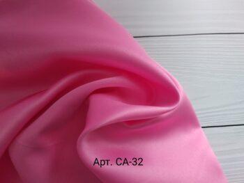 Атлас матовый тонкий розовый