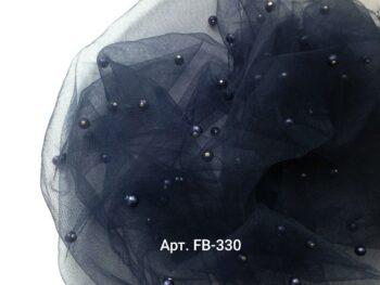 Фатин с бусинами Темно-Синий (FB-330)