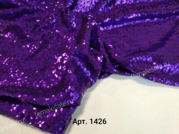 пайетки на сетке фиолетовые