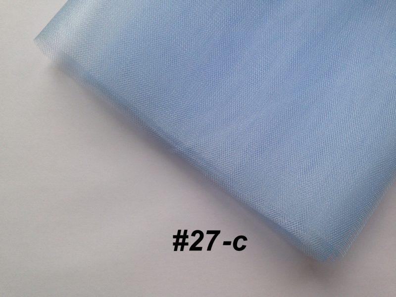 Фатин средней жесткости Kristal Tul, Турция, ширина 3 метра, Бледный голубой