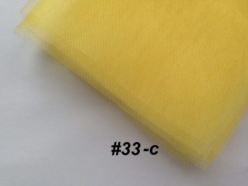 Фатин средней жесткости Kristal Tul, Турция, ширина 3 метра, Желтый