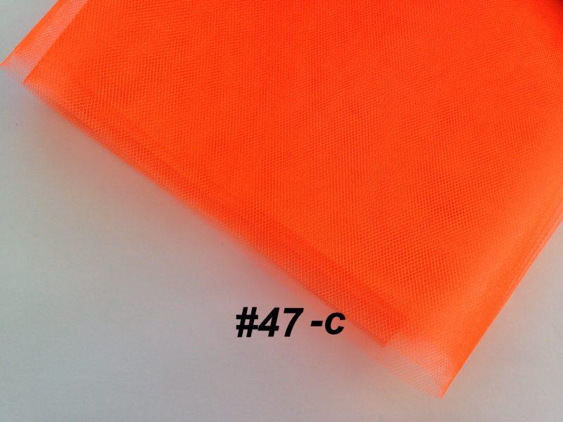 Фатин средней жесткости Kristal Tul, Турция, ширина 3 метра, Оранжевый неон