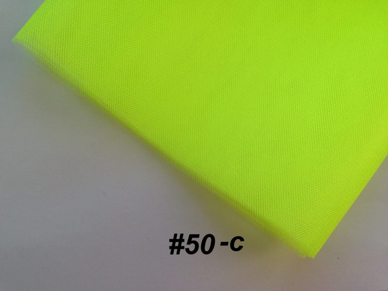 Фатин средней жесткости Kristal Tul, Турция, ширина 3 метра, Желтый неон