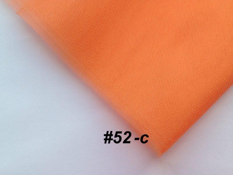 Фатин средней жесткости Kristal Tul, Турция, ширина 3 метра, Оранжевый