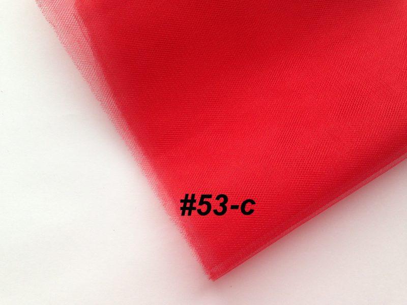 Фатин средней жесткости Kristal Tul, Турция, ширина 3 метра, Красный