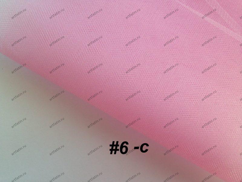 Фатин средней жесткости Kristal Tul, Турция, ширина 3 метра, Светлый розовый