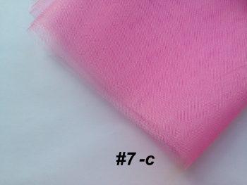 Фатин средней жесткости Kristal Tul, Турция, ширина 3 метра, Розовый бутон