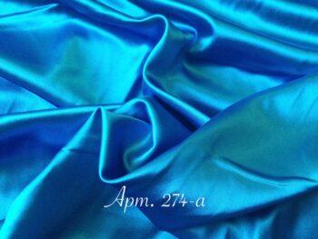 Атлас стрейч ярко-голубой