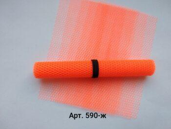 Фатин жесткий Оранжевый неон