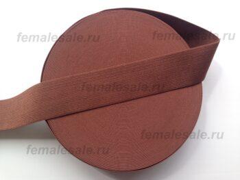 Резинка для пояса 4 см коричневая